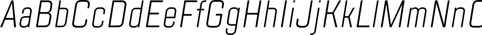 TT Lakes Compressed Light Italic Font
