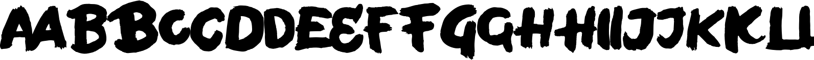 Bold Face Lowercase Font