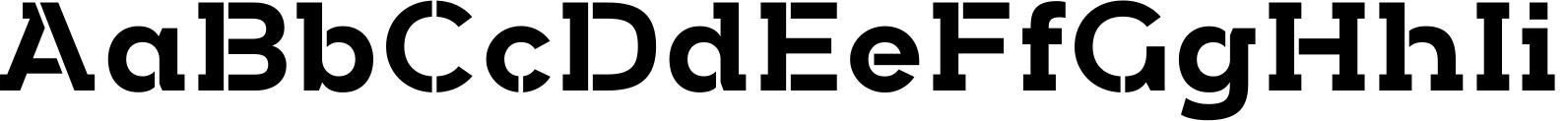 Arkibal Serif Stencil