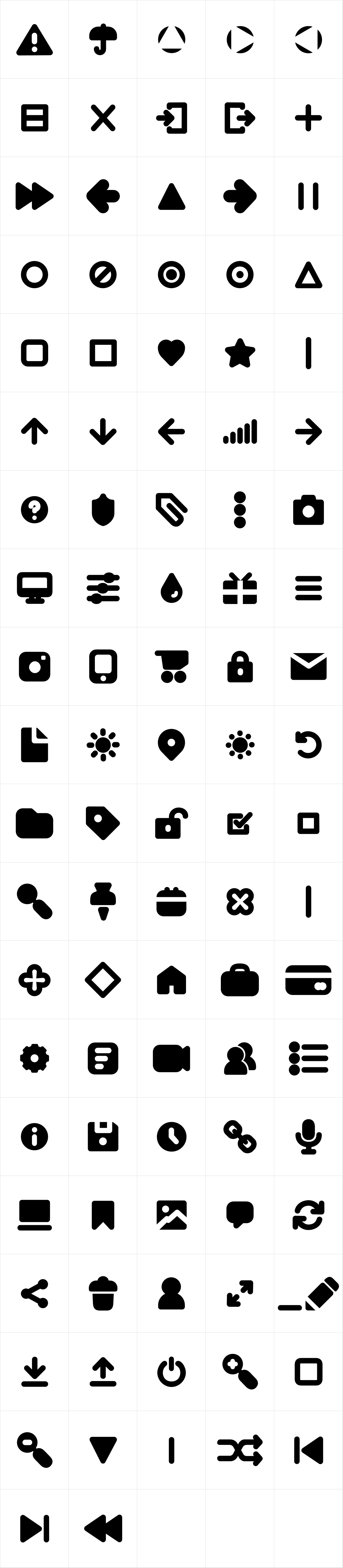 Antipasto Icons Bold