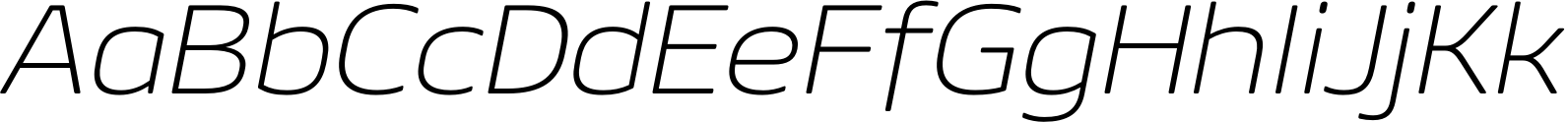Geon Soft Expanded ExtraLight Italic Font