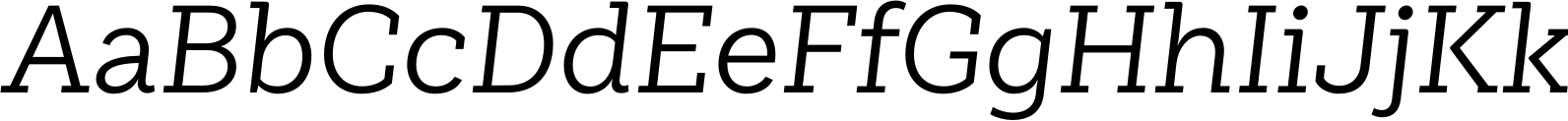 Weekly Regular Italic Font