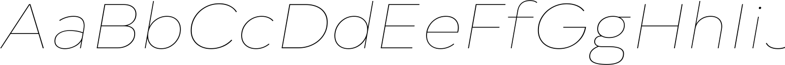 Typold Extended ExtraThin Italic Font