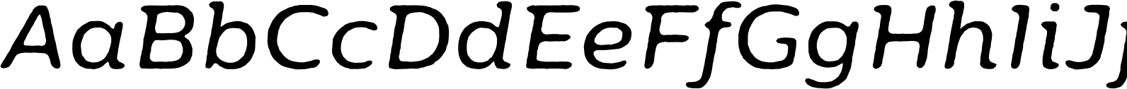Moreno Rough Two Regular Italic Font