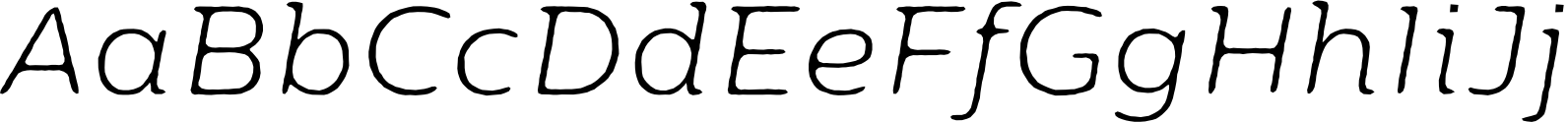 Moreno Rough Two Thin Italic Font