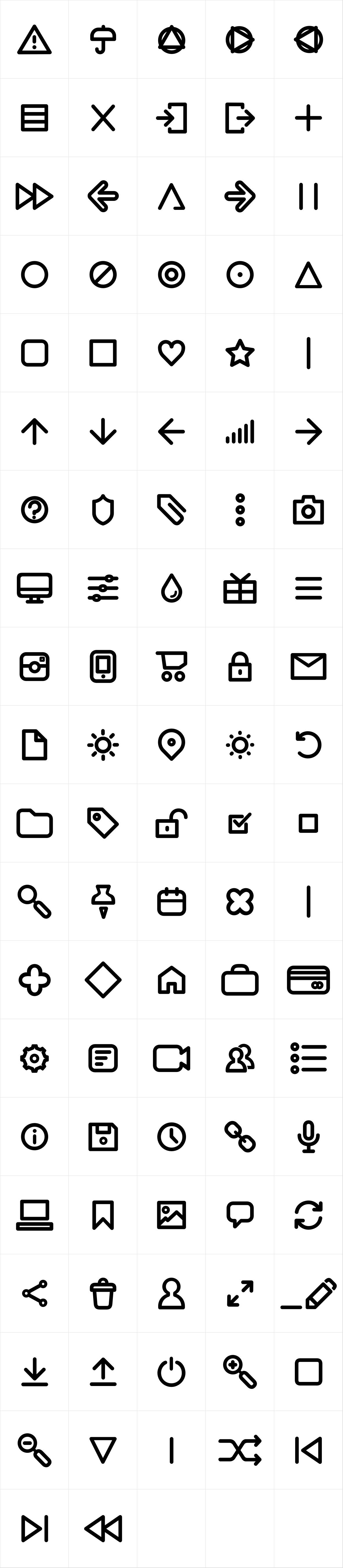 Arista Pro Icons Regular
