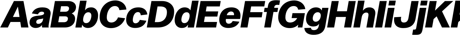 Sequel Sans Heavy Oblique Display Font