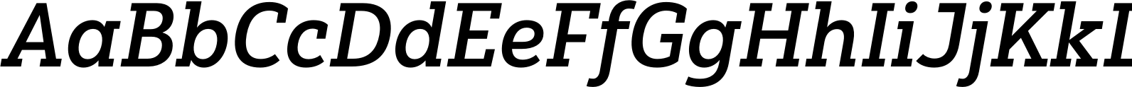Yorkten Slab Normal Demi Italic Font