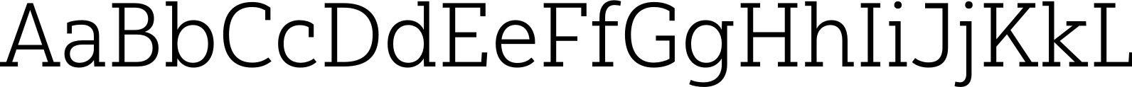Yorkten Slab Normal Light Font