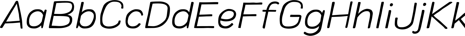 Colby Extended Extra Light Italic Font