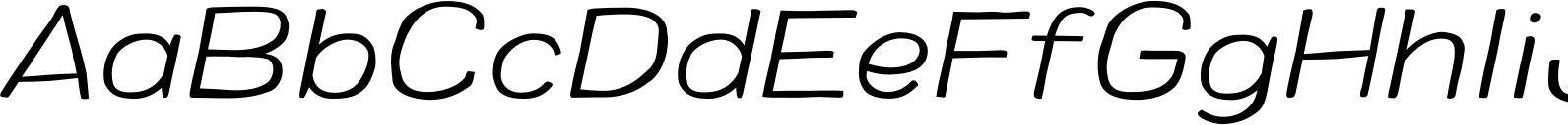 Colby Wide Extra Light Italic Font