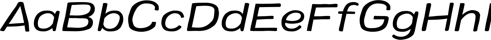 Colby Wide Regular Italic Font