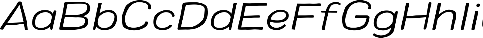 Colby Wide Light Italic Font