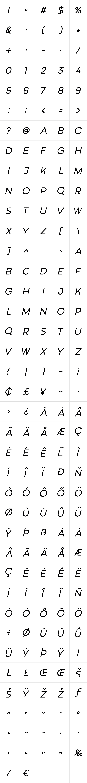 Meshitara Sans Italic