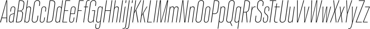 Molde Compressed UltraLight Italic Font