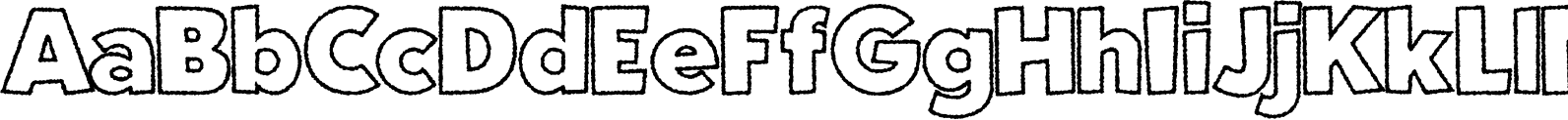 Fright Night Rough Outline Font