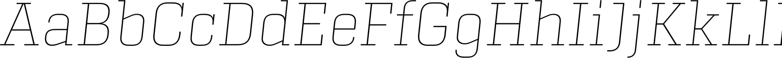 Center Slab Thin Italic Font