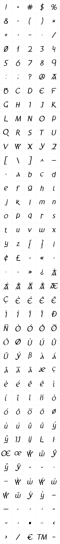 Anchor Italic Bold