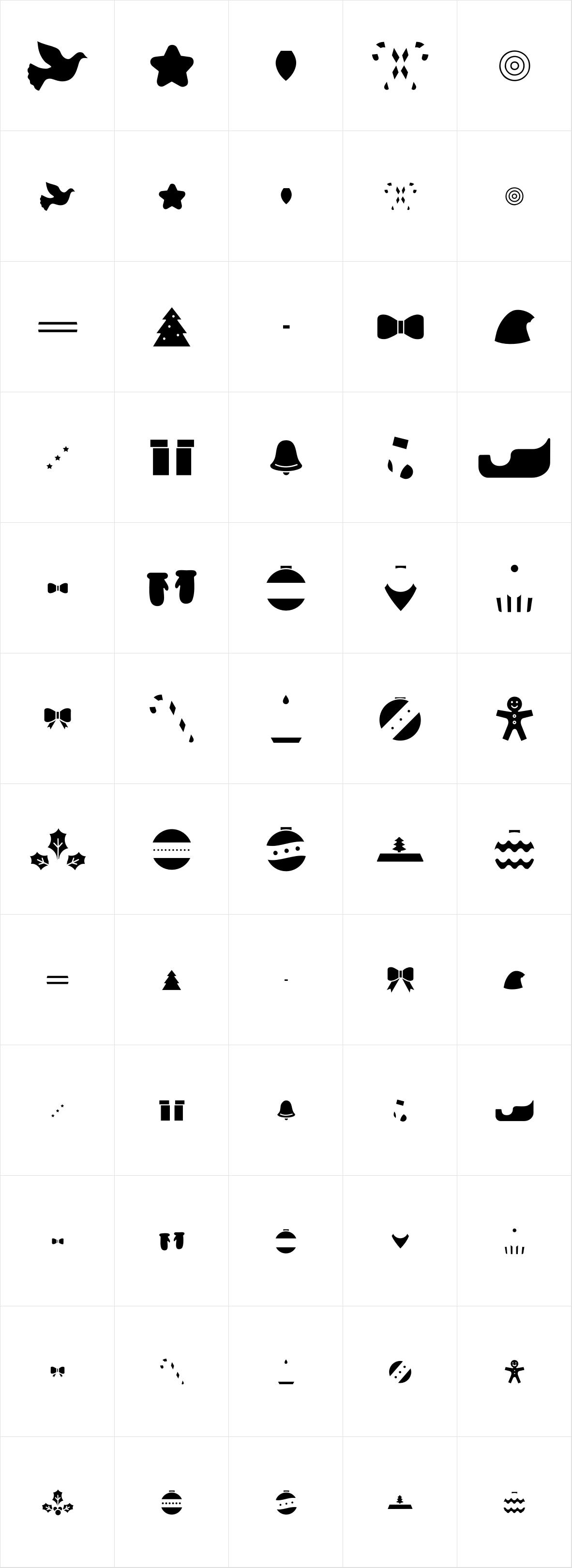 Hello Christmas Icons Fill
