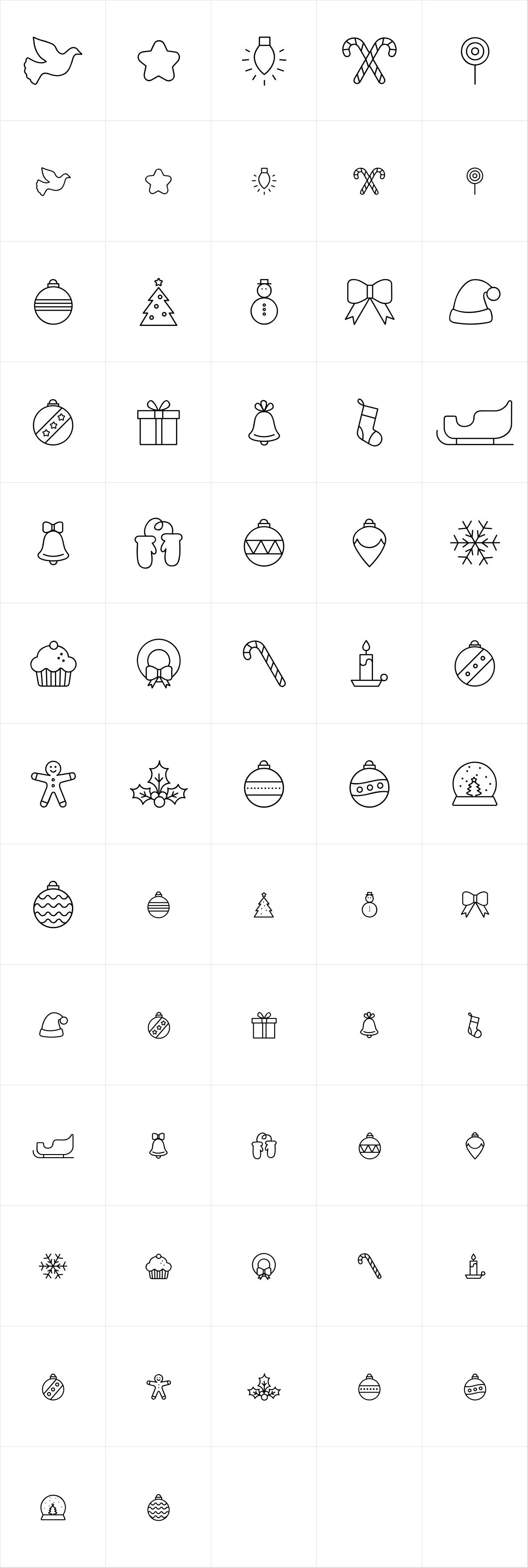 Hello Christmas Icons