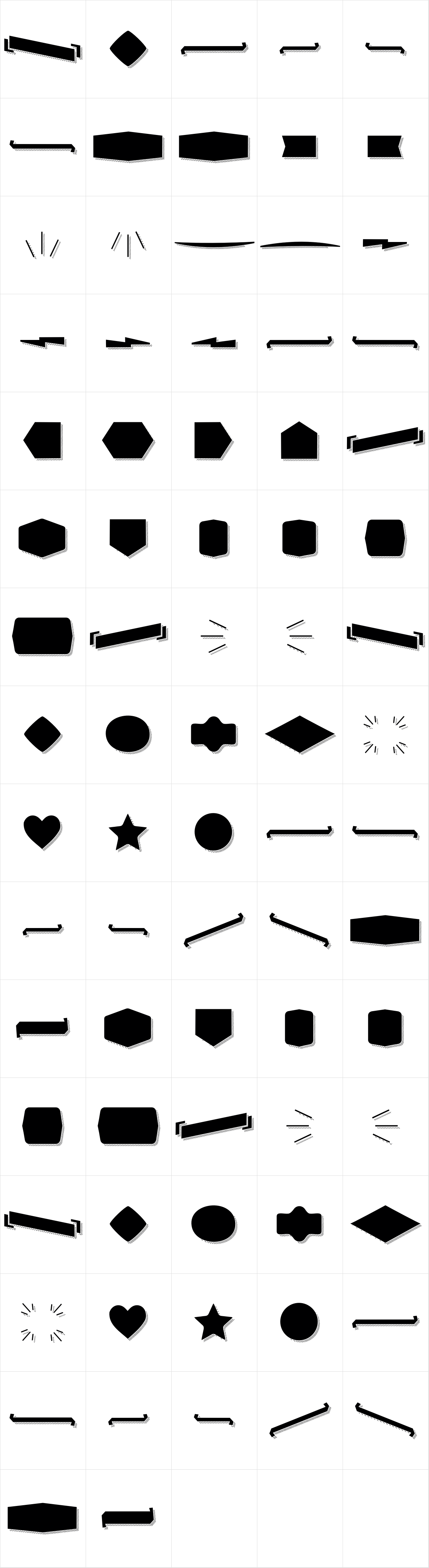 Alquitran Pro Dingbat Shape More Shadow Line