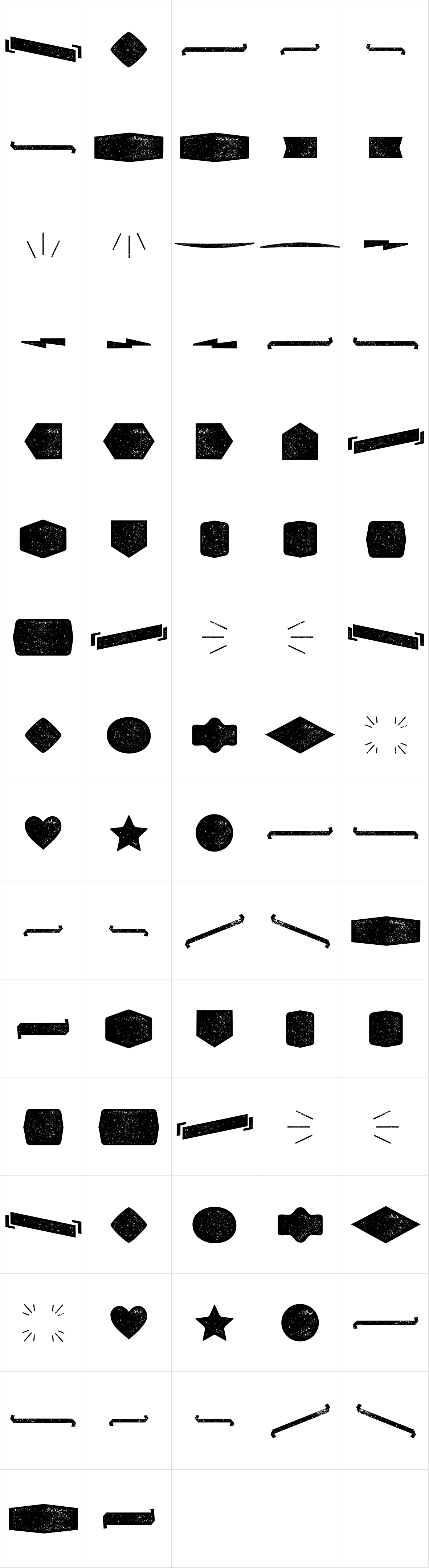 Alquitran Pro Dingbat Shape Rough
