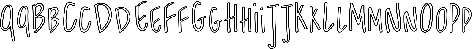 Shiraz Regular Outline Font