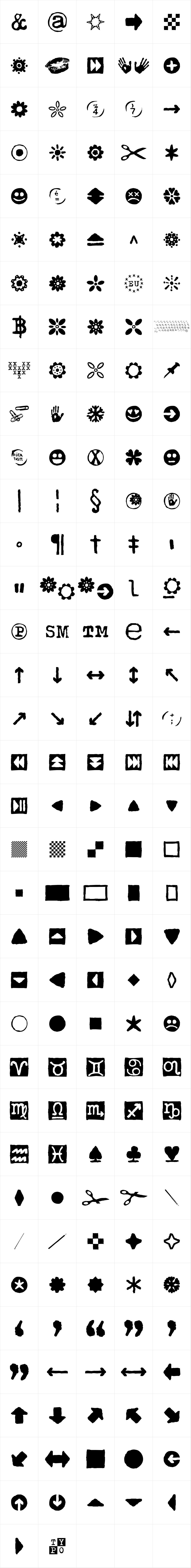 Typewriter 1950 Tech Mono Icons