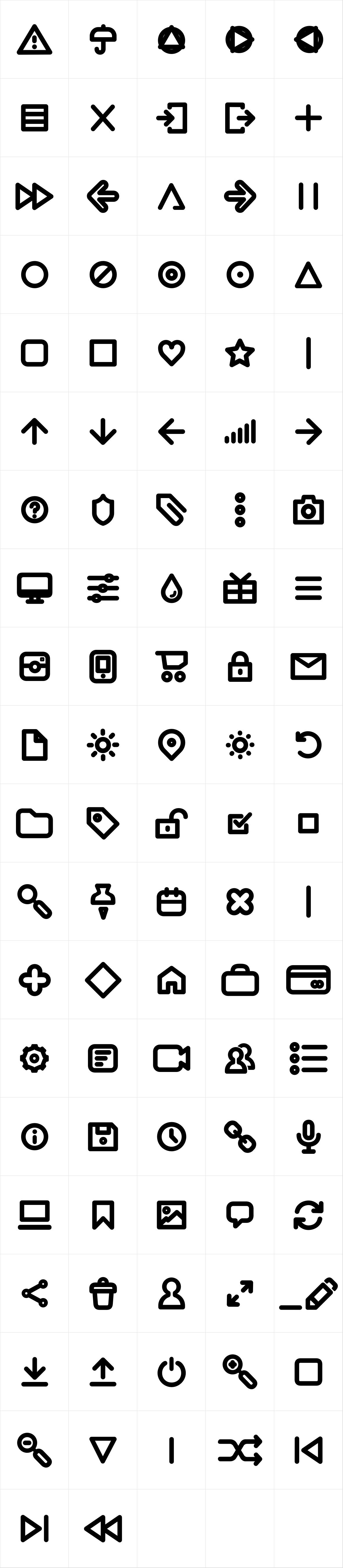 Aristotelica Icons DemiBold