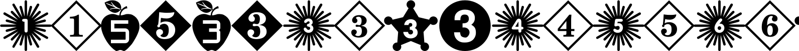 Number Ornaments
