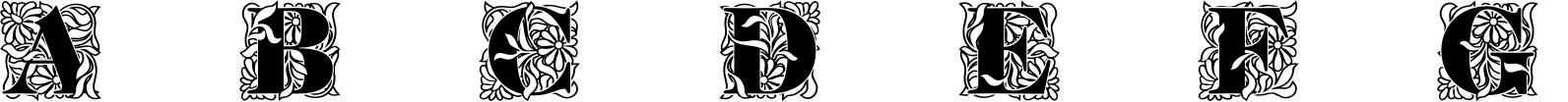 Ornate Initials