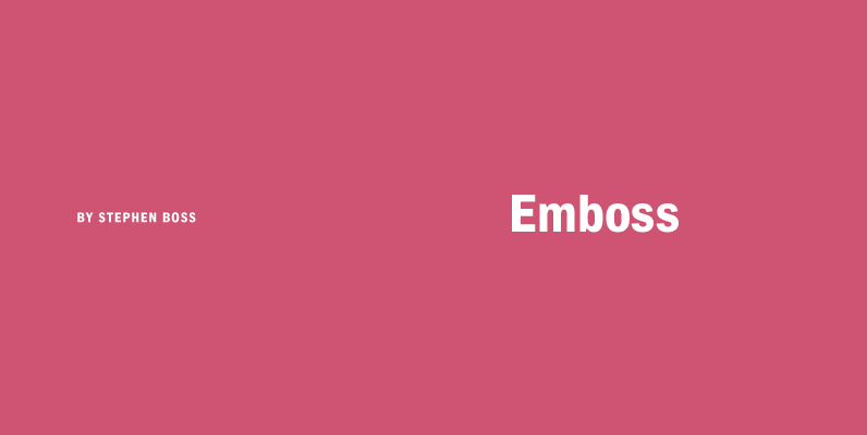 Emboss Fonts