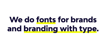 Branding with Type