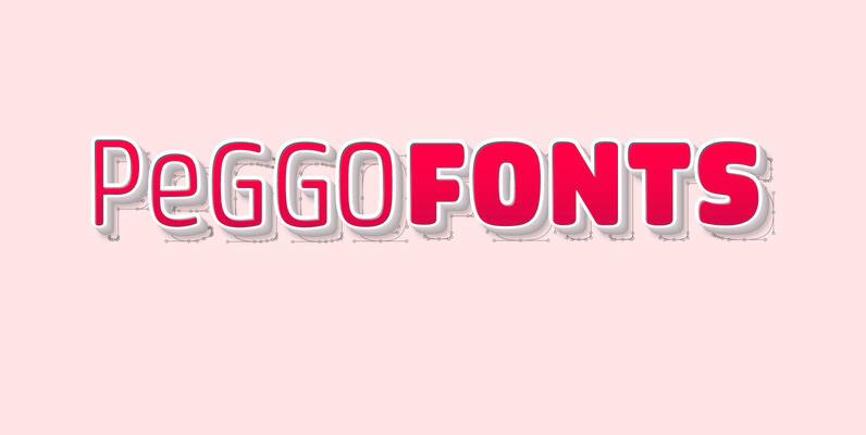 Peggo Fonts