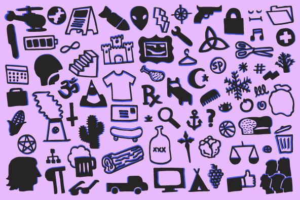 Hand Drawn Icons and Shapes