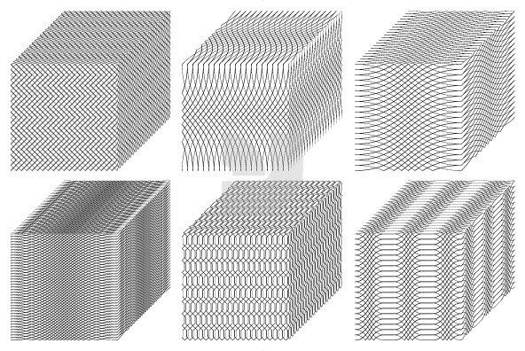 Guilloche Cubes