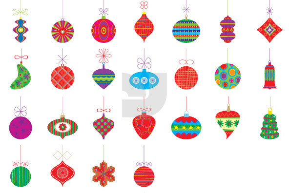 Christmas Ornaments 04 - Graphics - YouWorkForThem