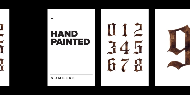 Hand Painted Numbers