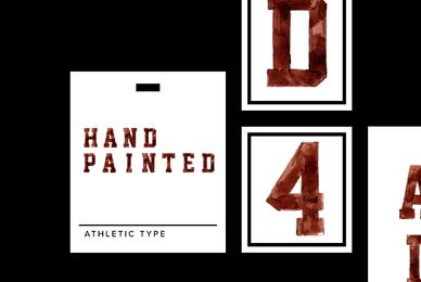 Hand Painted Athletic Type