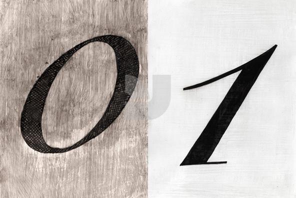 10 Cursive Numbers