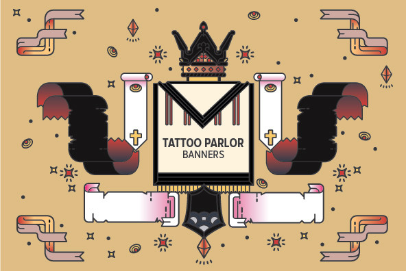 Tattoo Parlor Banners