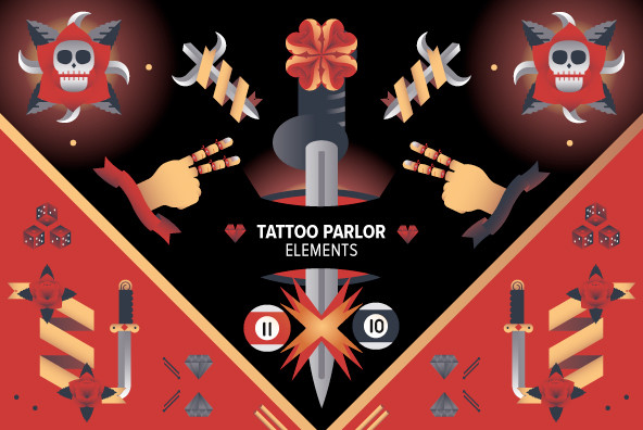 Tattoo Parlor Elements