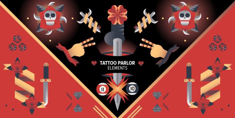 Tattoo Parlor Elements