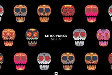 Tattoo Parlor Skull
