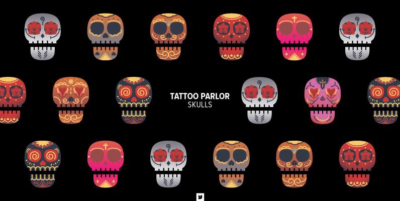 Tattoo Parlor Skull