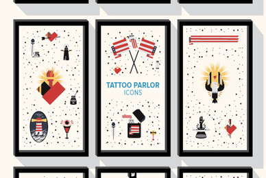 Tattoo Parlor Icons
