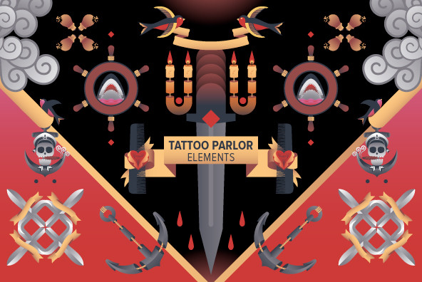 Tattoo Parlor Element 02