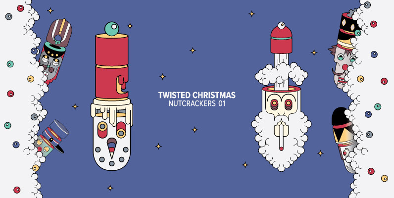 Twisted Christmas Nutcrackers
