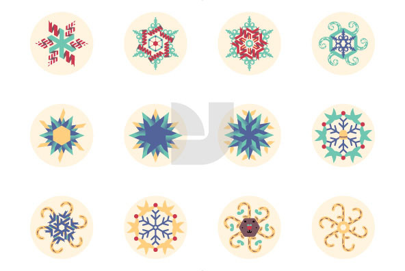 Twisted Christmas Snowflakes 01