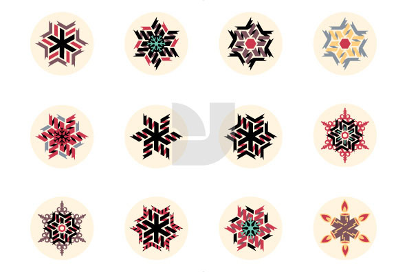 Twisted Christmas Snowflakes 02